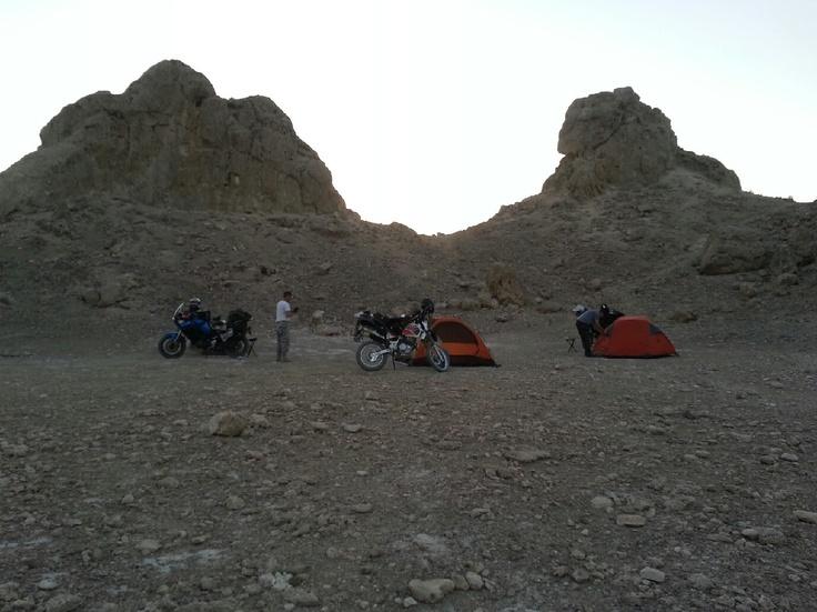 Desert motorcycle trip