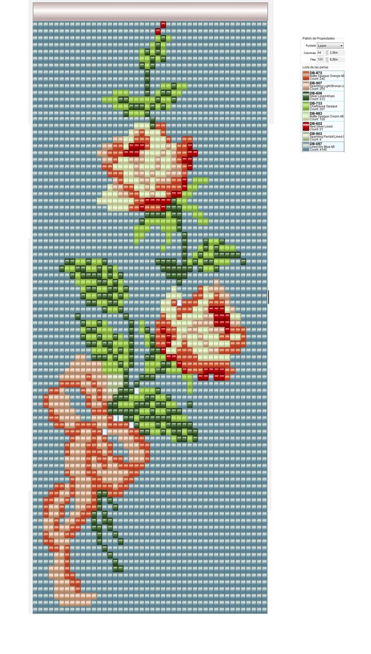 rosas beadloom, patterns