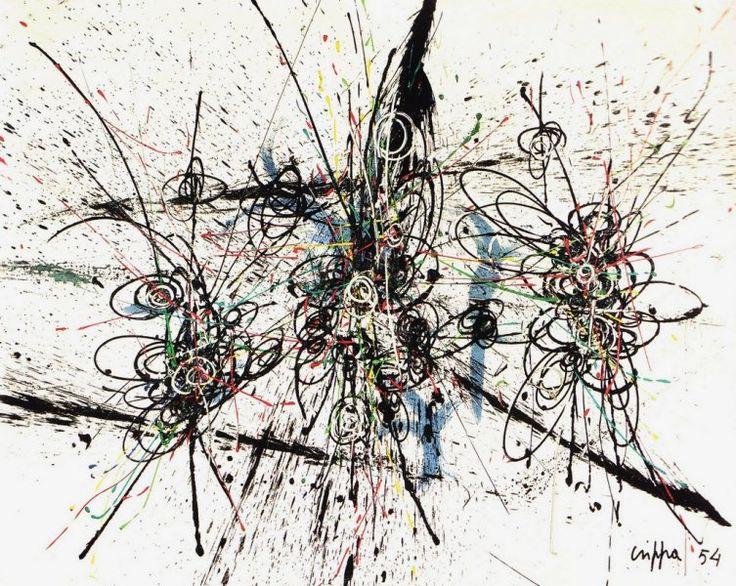 Roberto Crippa: Composizione spaziale, 1954