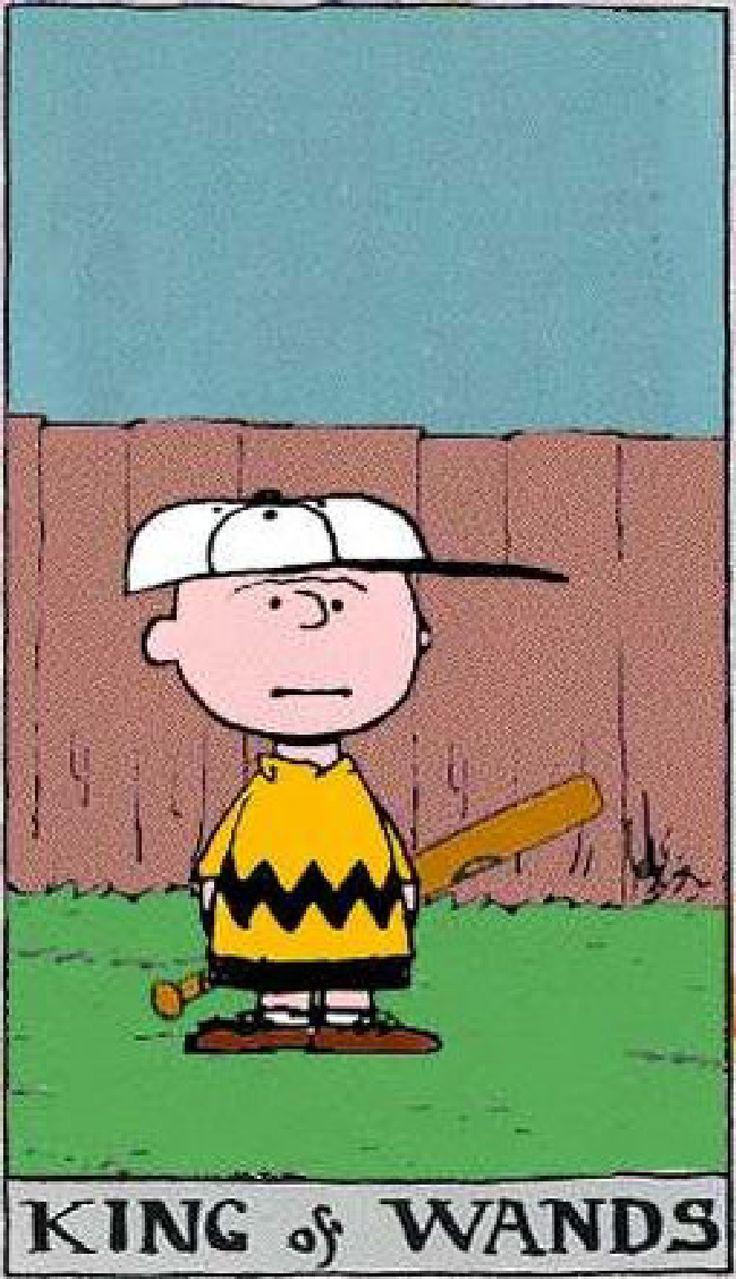 Peanuts Tarot: King of Wands