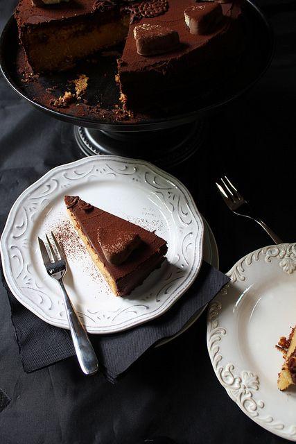 Roasted Pineapple & White Chocolate Mud Cake