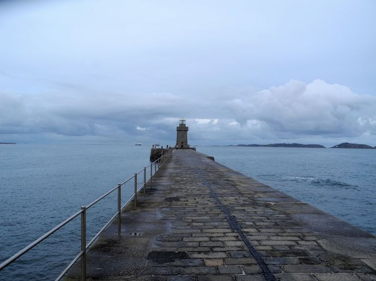 Lighthouse at Castle Pier, Guernsey Island #Guernsey #ChannelIslands #EnglishChannel #Lighthouse #pier