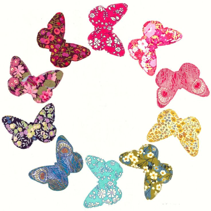 Lovely Liberty Butterfly Ring Pattern A Lovely Way To Use Your Liberty  Rainbow Fabrics! The