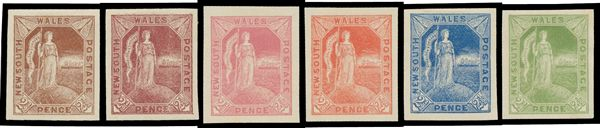 2½d Allegorical Figure imperforate colour trials in grey, black, black-brown, brown, brown-purple, carmine-rose,... Click VISIT to find out more and see 1000's of Premium Stamps at MAD On Collections...  Check us out on Facebook - https://www.facebook.com/madoncstamps/...  Please feel free to pin or share this stamp or content from MADonC.com. MADonC.com is for passionate collectors of all objects with 1000's of categories on view...  #Stamps #PostageStamps #AustralianStamps