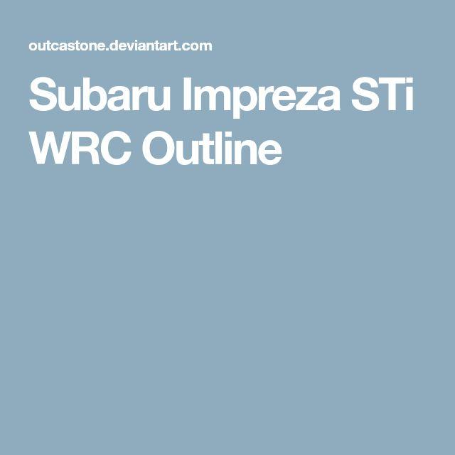 Subaru Impreza STi WRC Outline