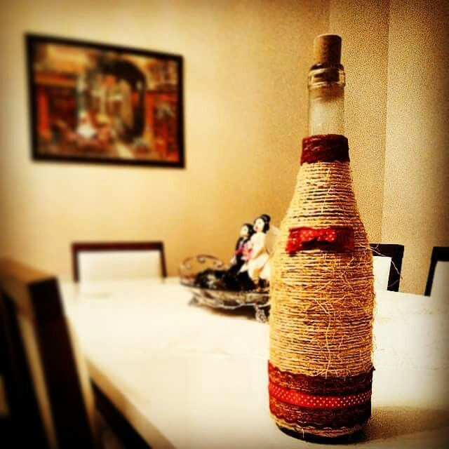 Homemade DIY with wine bottle and the other two are made by me too..