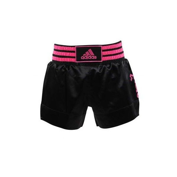 adidas Thai Boxing Shorts Black/Pink ❤ liked on Polyvore featuring activewear, activewear shorts, adidas sportswear, logo sportswear, pink sportswear, adidas and adidas activewear