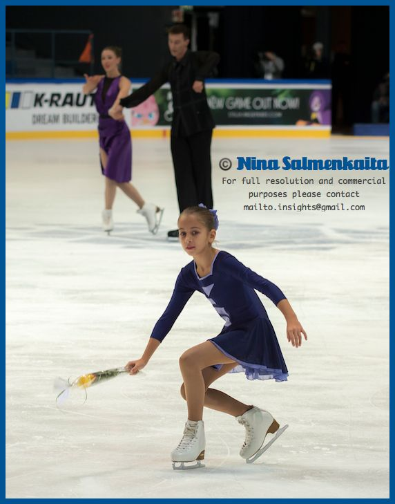 Being a flower girl in a big competition like Finlandia Trophy is a highlight of the year for a young figure skater.