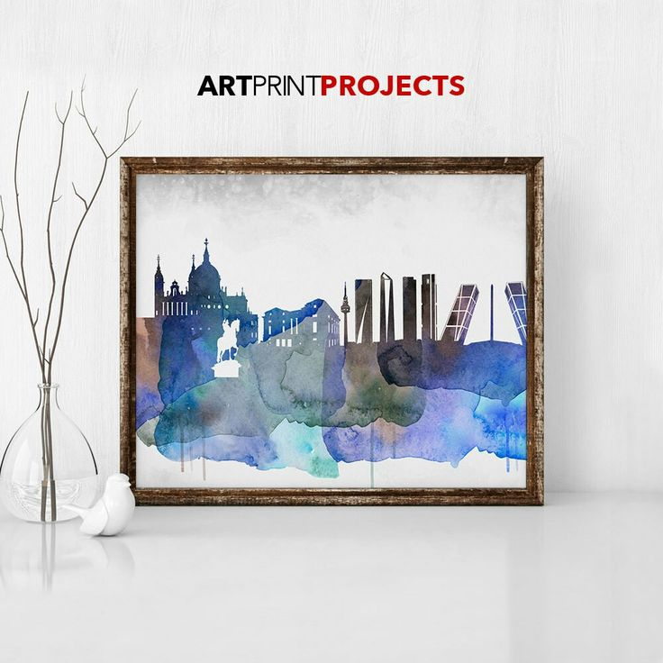 Excited to share the latest addition to my #etsy shop: Madrid city skyline, Madrid colorful, Madrid modern pop art skylines, gallery prints, home decor, office decoration, gift, ArtPrintProjects #art #print #skylineposters http://etsy.me/2jHiZmk