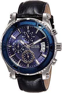best service 88b28 c315f Guess Herren Analog Quarz Uhr mit Leder Armband W0673G4 ...
