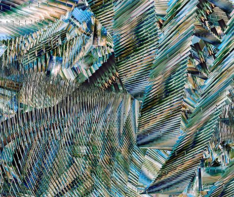 """Jarkko Räsänen - Photographic """"action painting"""" works generated with self-made software that uses digital image files as """"paintbrush"""" for orbits based on frequencies produced by two oscillators."""