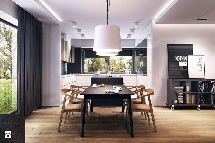 WAKE UP YOUR IMAGINATION - Średnia otwarta jadalnia w salonie - zdjęcie od Plasterlina