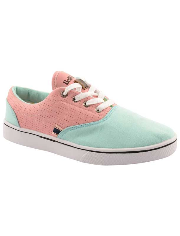 Bellfield Pere γυναικεία πάνινα sneakers σε βεραμάν με ροζ -κοντράστ κορδόνια και σόλαupper: canvas and other materiallining: canvassole: rubbe