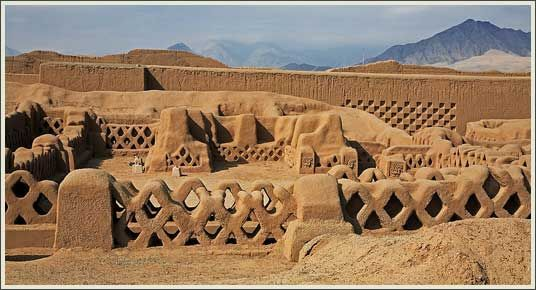 """The Northern Coast's civilizations left us astonishing evidence of their achievements. Tucume, the """"Valley of 26 Pyramids"""", was a thriving city of temples and squares built by the Lambayeque in the 11th Century and conquered by the Chimu in the 14th. The exquisitely decorated Moche Temples of the Sun and the Moon stand a few miles from the Pacific Ocean, near the 500-acre complex of Chan Chan, capital of the Chimu Empire and one of the largest and most developed cities in the ancient…"""