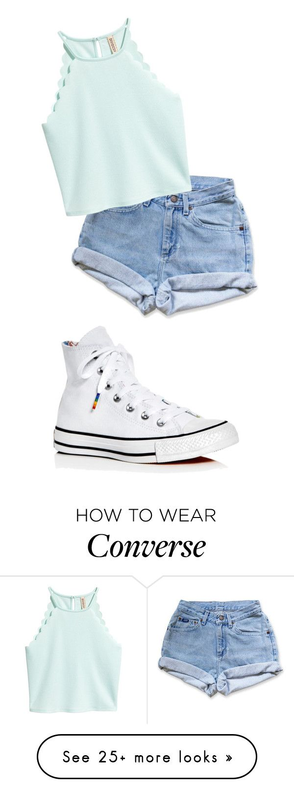 """Untitled #2643"" by vireheart on Polyvore featuring Levi's and Converse"
