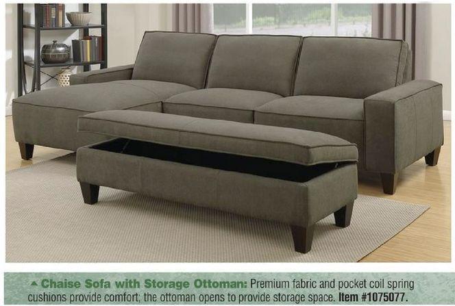 Mstar Orion Chaise Sofa W Storage Ottoman 1075077 Storage Ottoman Chaise Sofa Sofa