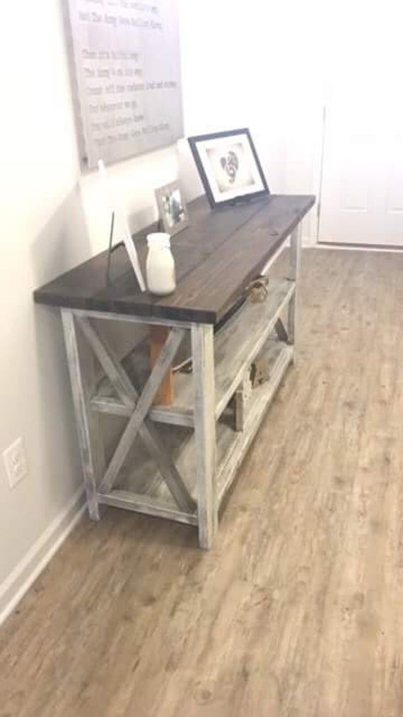 Rustic Wooden Buffet Table Rustic Console Table Farmhouse Buffet