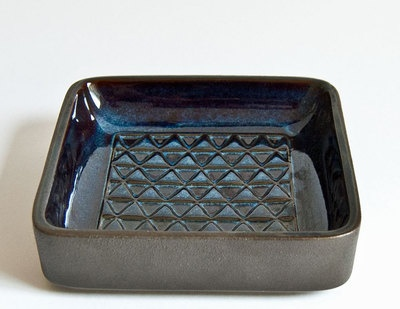 Soholm - Einar Johansen - Blue series, square bowl