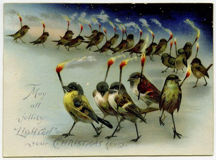 Νεκρά πουλιά, κότες σε έλκηθρα και Εωσφόροι: 23 εκκεντρικές χριστουγεννιάτικες κάρτες της βικτωριανής εποχής