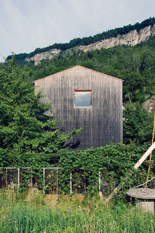 Peter Zumthor's Studio, Haldenstien, Switzerland. 1986