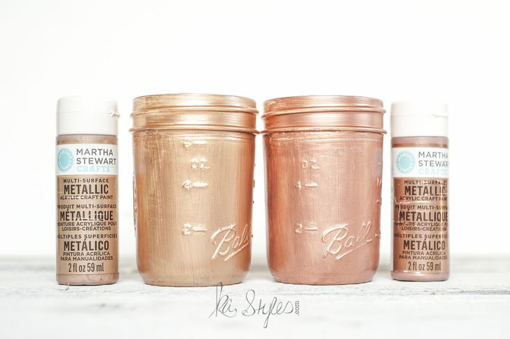Rose gold acrylic paints