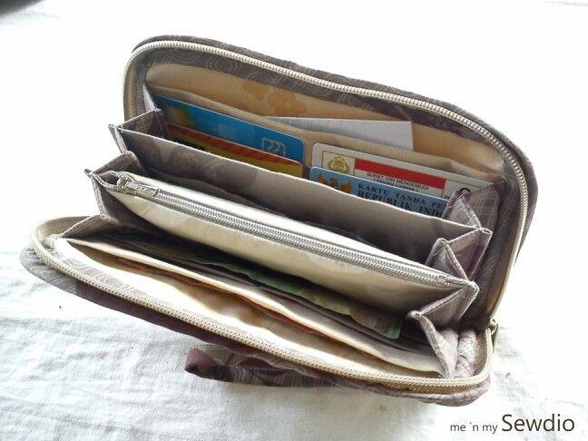 Inside organizer wallet.