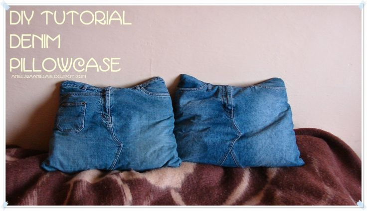 DIY TUTORIAL ..denim pillowcase...dżinsowa poszewka diy ..