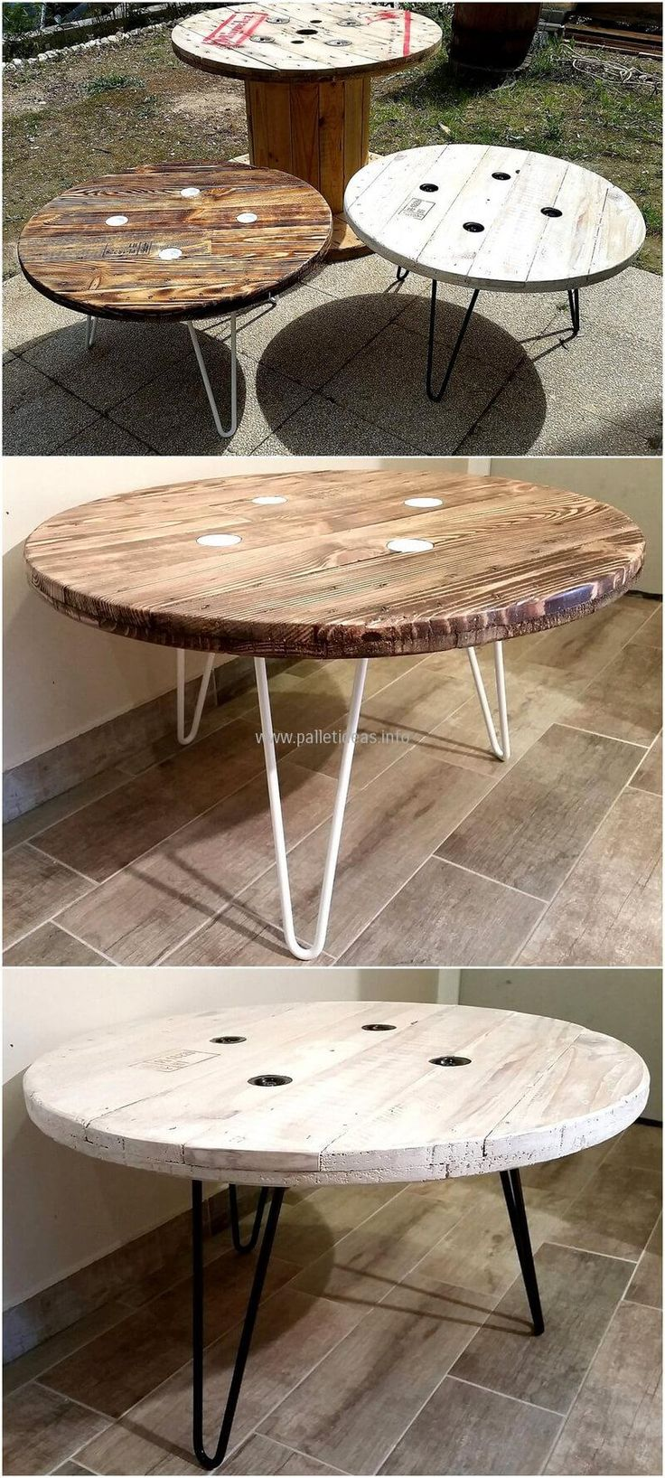 Some of the Fantastic Pallet Reusing Ideas. Cable Spool TablesCable ...