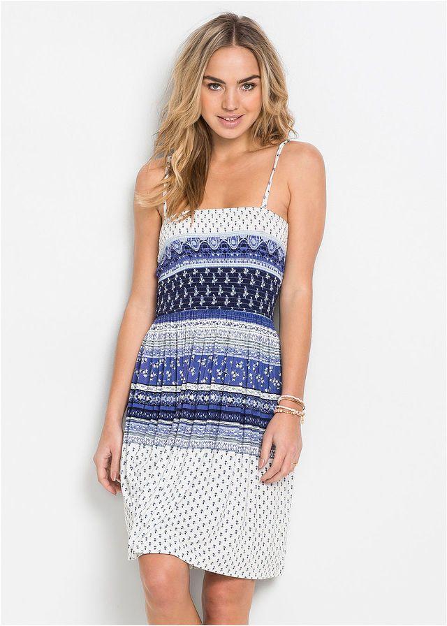 edb2531d85 Sukienka • niebieski wzorzysty • bonprix sklep