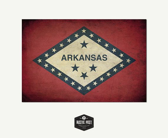 Vintage Tennessee flag Canvas Print 24x36 Flag Wall by RusticPost