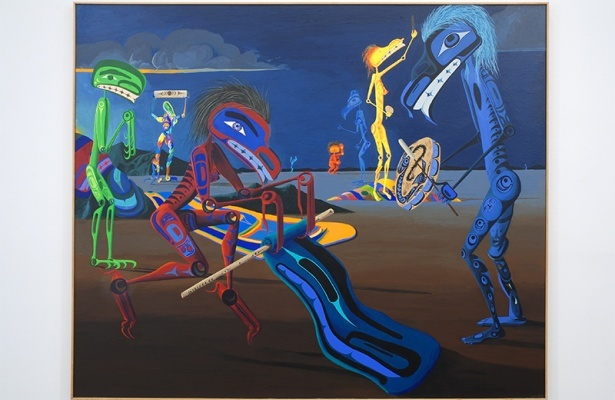 Lawrence Paul Yuxweluptun, Guardian Spirits on the Land: Ceremony of Sovereignty, 2000.