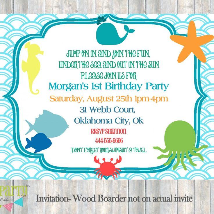 Under The Sea Invitation Template Free - Premium Invitation Template Design | Bliss Escape