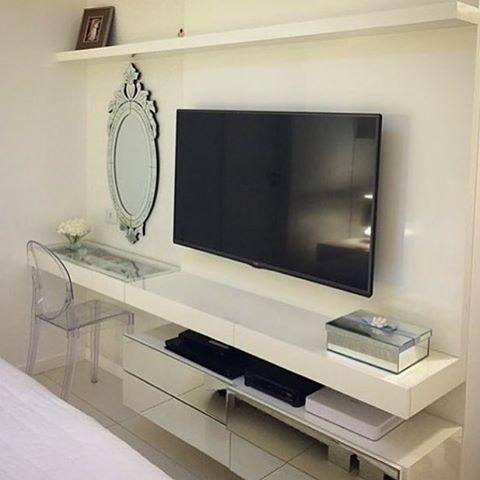 Projeto de painel de TV e penteadeira.