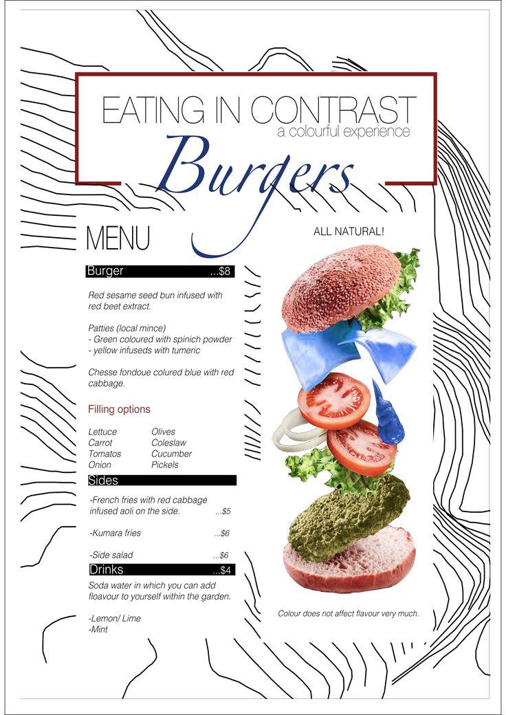 menu for food space