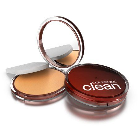 Covergirl Clean Pressed Powder Foundation Soft Honey 155, .39 oz, Yellow