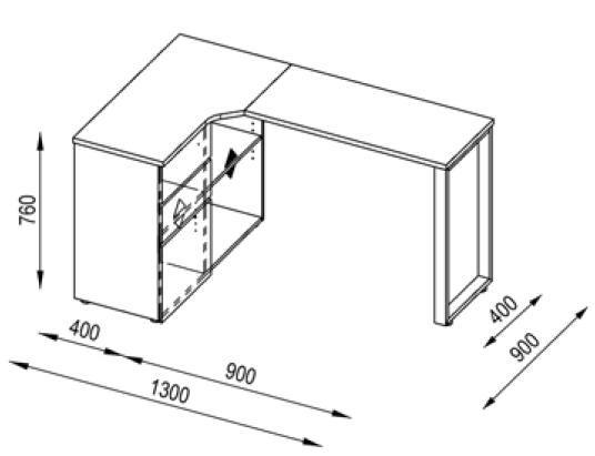 Bureau informatique d'angle design avec rangement blanc-bleu Lelia - Bureau d'angle moins cher - MATELPRO