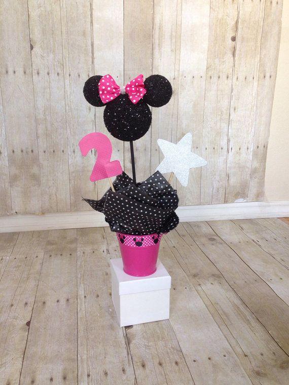 Minnie Mouse centerpiece topiary decor