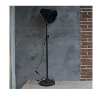 vloerlamp metaal zwart 35x27x186cm
