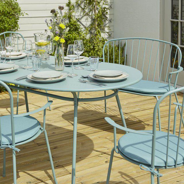 une table de jardin en mtal pastel castorama - Salon De Jardin Mtal Color