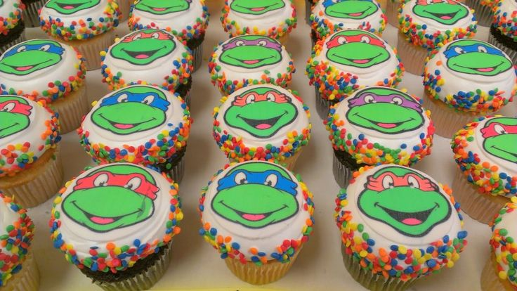 ninja turtle cupcake ideas - Google Search