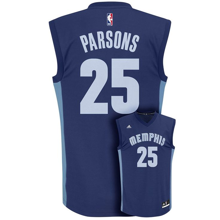 Men's Adidas Memphis Grizzlies Chandler Parsons NBA Replica Jersey, Size: Medium, Blue (Navy)