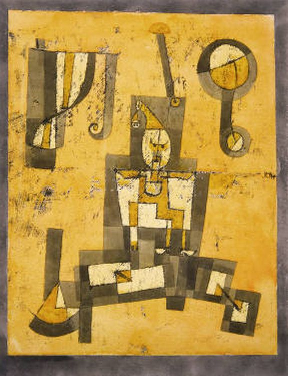 1923. Paul Klee. Captive Pierrot.