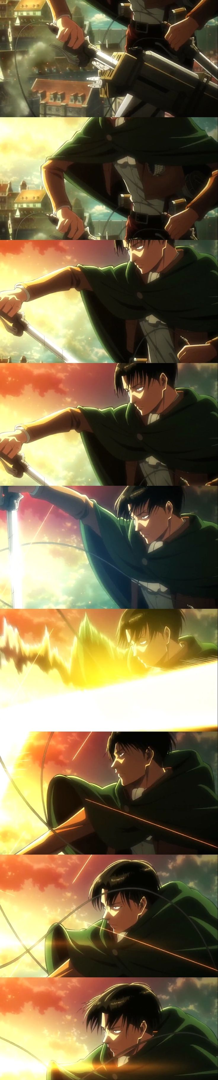 LEEEVVVVVIIII!! LOVE ME FOREVER!!!!^^^yaaaaaasssssss! Someone screenshotted Levi's but in the opening! I've been wanting to see this for a while!