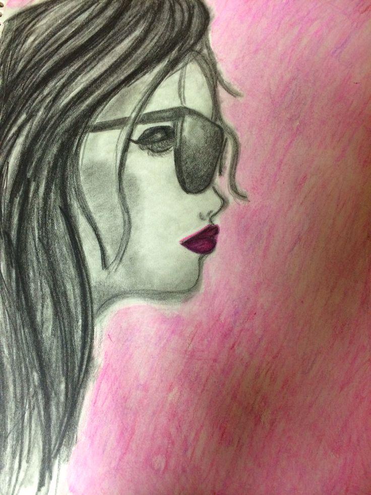 New sketch! Charcoal and watercolor pencils. #my #gaba #sketch #designs