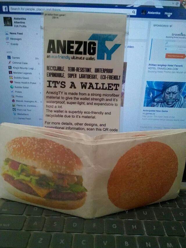 AnezigTY hamburger. Superstrong, superlight, supergreen, superyummy