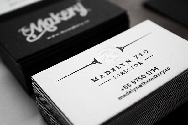 The Makery - Two sided letterpressed business cards