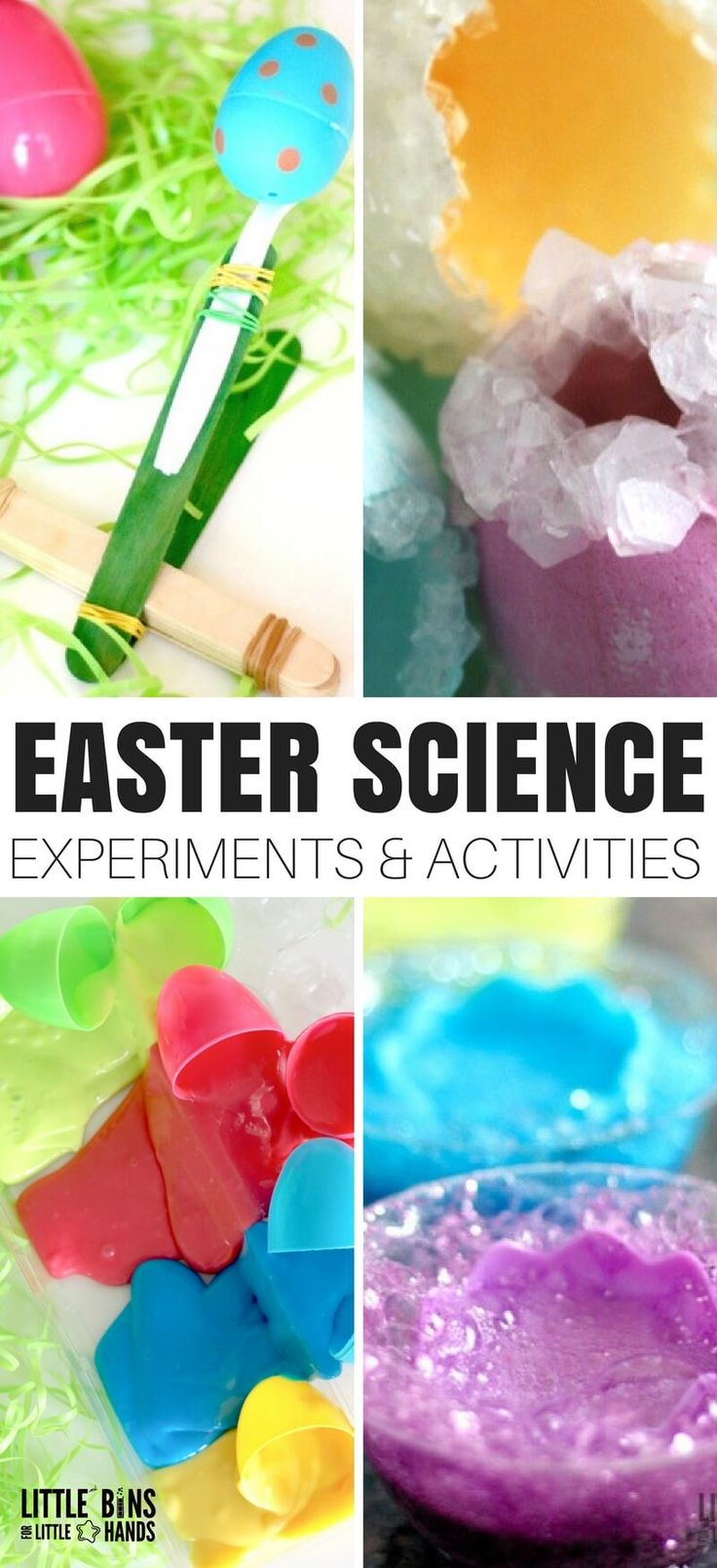 We have the best, most fun, and super easy to set up Easter science activities for your kids this Spring! It's amazing what you can do with both real and plastic eggs. We love doing transforming our everyday science and STEM with cool holiday themes! Our Easter science experiments are perfect for young kids to enjoy all season long.