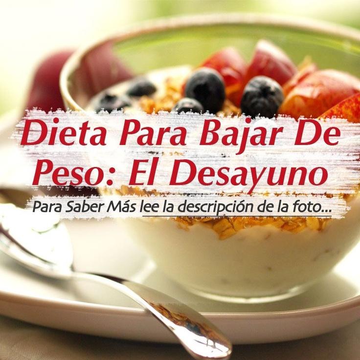 Dieta Para Bajar   De Peso: EL DESAYUNO!