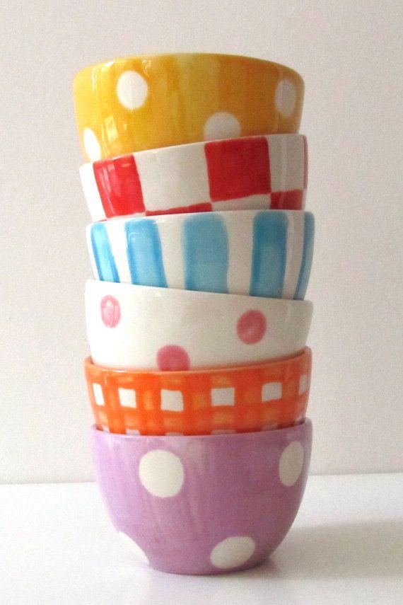 Little Bowl, dessert bowl, tapas bowl, high tea nuts crisps hand painted handmade personalized ceramic pottery ceramics on Etsy, $17.57