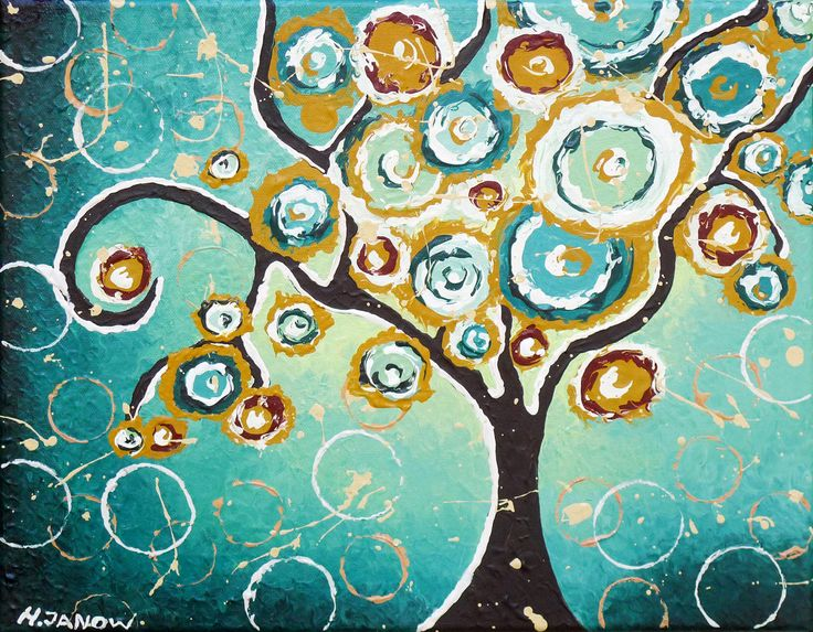 Giclee Print Tree Of Life Art Whimsical By HjmArtGallery